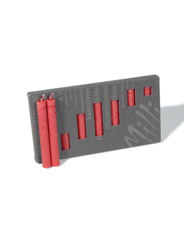 Glasuntersetzer transparent für 3 Sternkerzen 70mm