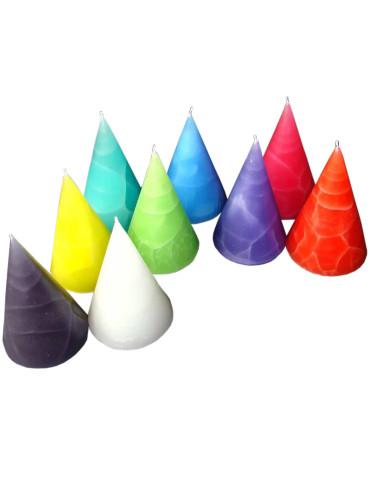 Blockkerzenböxli 6er Set, signalrot, aubergine, weinrot
